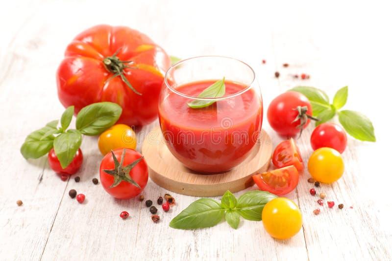 Minestra del pomodoro, immagine stock libera da diritti