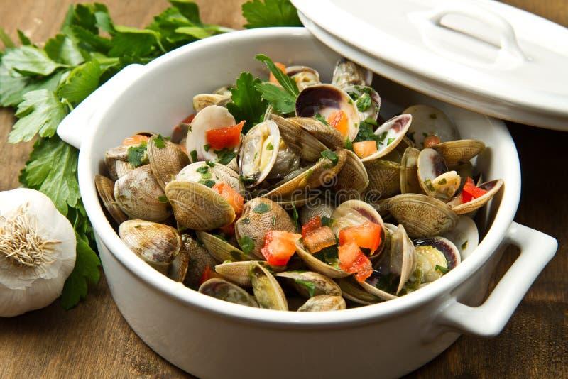 Minestra deliziosa dei molluschi immagini stock libere da diritti
