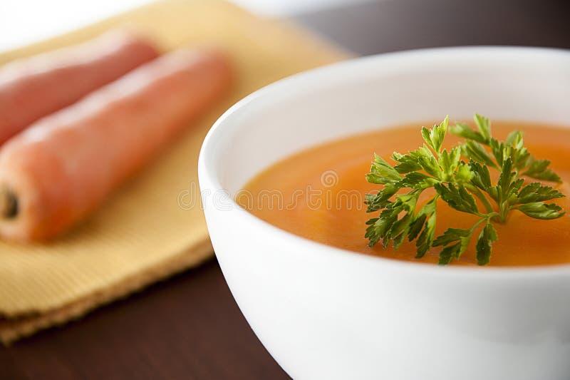 Minestra della carota fotografia stock libera da diritti