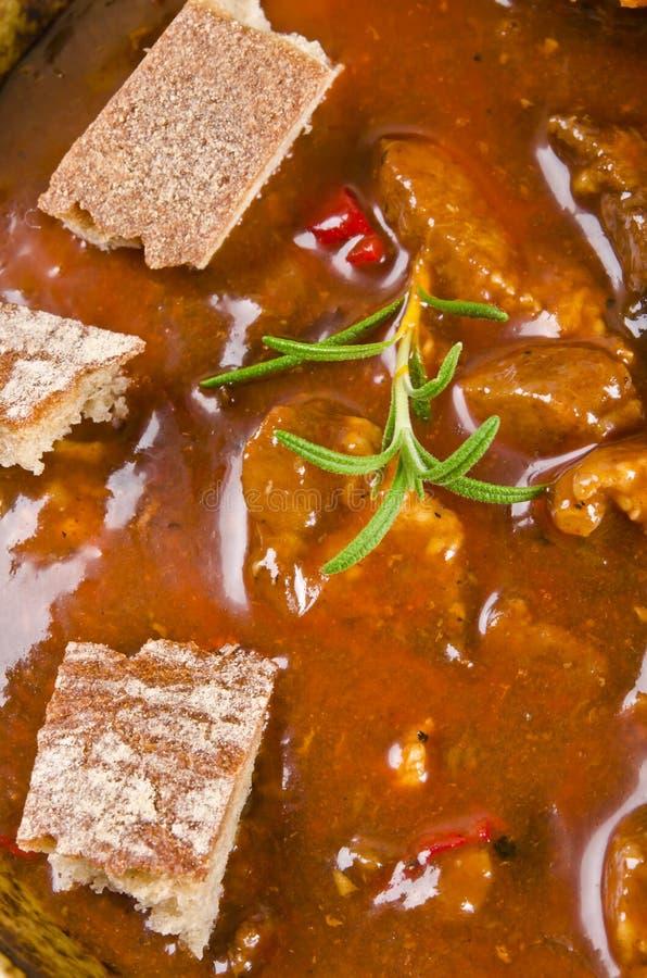 Minestra di goulash immagine stock