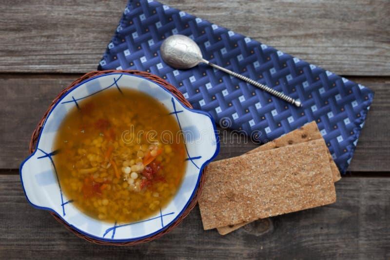 Minestra di lenticchie italiana fotografia stock