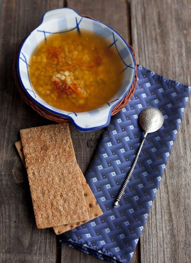 Minestra di lenticchie italiana fotografia stock libera da diritti