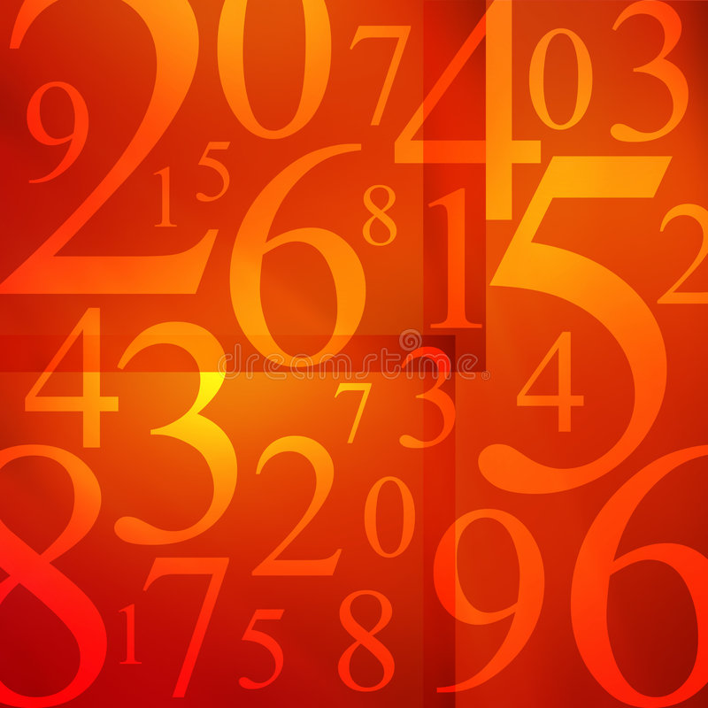Minestra di numeri illustrazione vettoriale