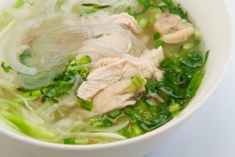 Minestra di pasta vietnamita di vetro del pollo fotografie stock libere da diritti