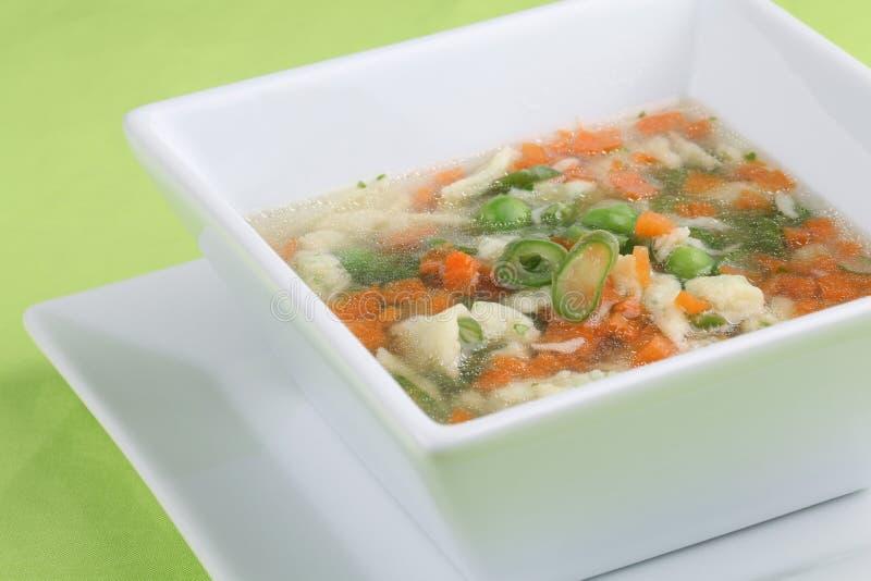 Minestra di pollo con le verdure fotografia stock libera da diritti
