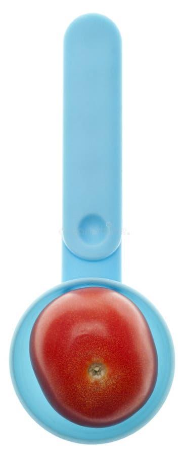 Minestra inscatolata del pomodoro immagini stock libere da diritti