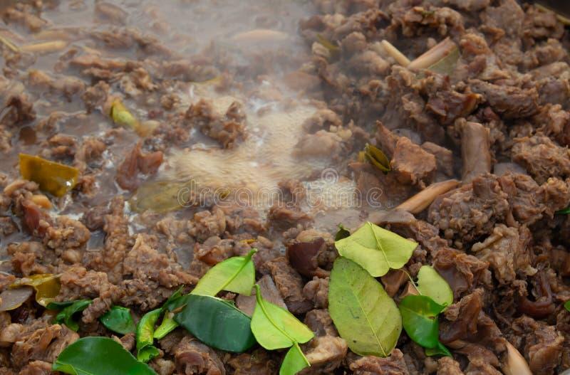 Minestra piccante con le budella piccanti della mucca fotografia stock libera da diritti
