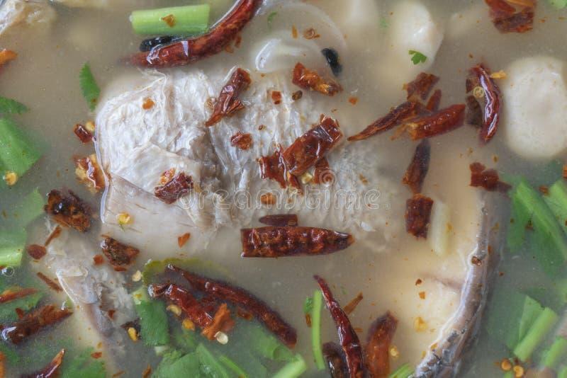 Minestra piccante tailandese del pesce immagine stock