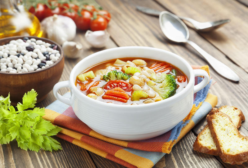 Download Minestrone stock photo. Image of meatless, cooked, cuisine - 39502572