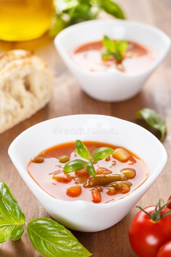 Minestrone - italiensk soppa med veggies arkivfoton