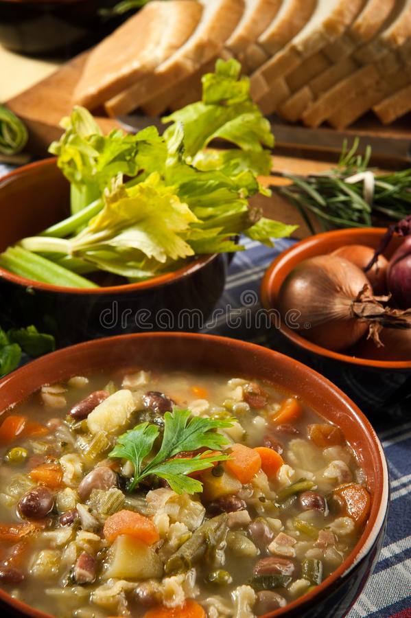 Free Minestrone - Soup With Vegetables Stock Photos - 22529613