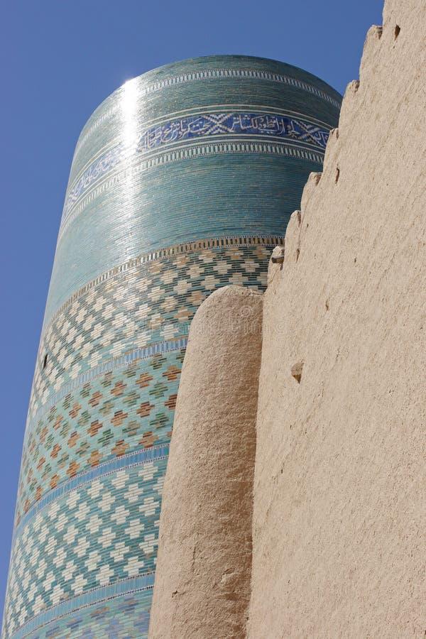 Mineur de Kalta, Khiva, Uzbekistan image libre de droits