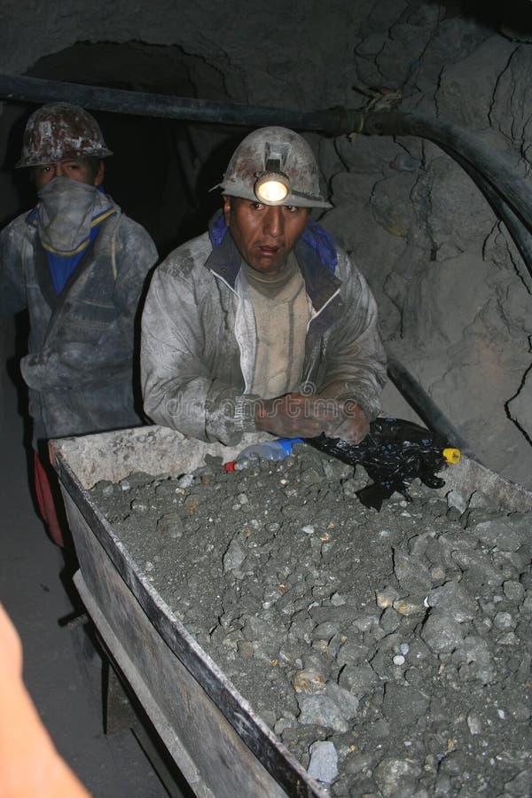 Mineurs en Amérique du Sud images stock