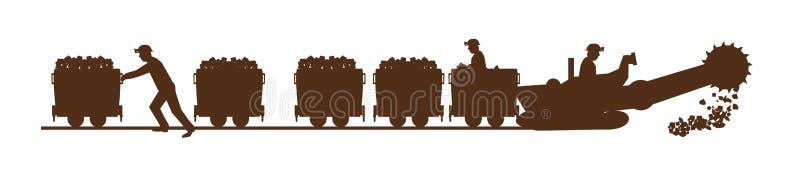 Mineurs travaillants illustration libre de droits