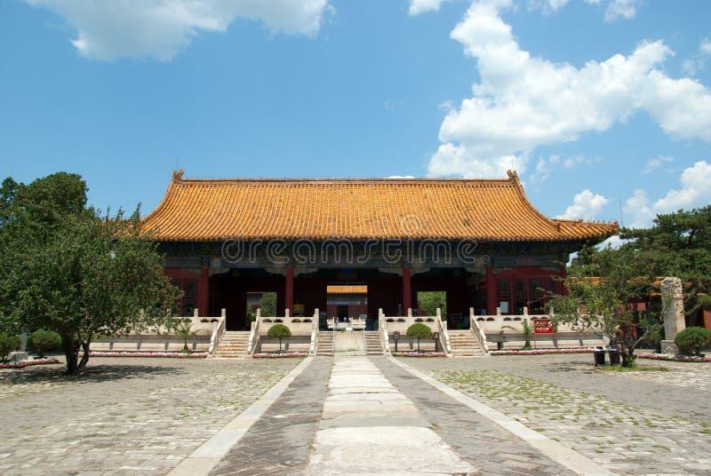 ming对坟茔的朝代入口 免版税库存图片