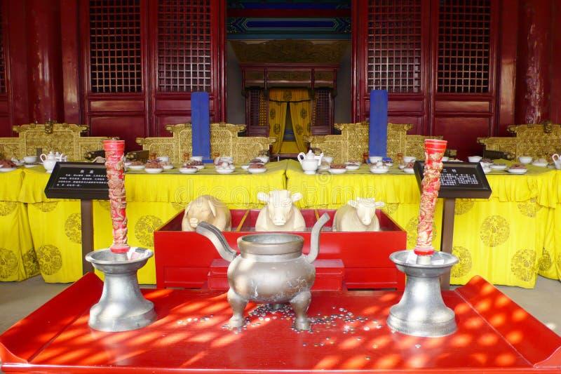 ming的坟茔 库存图片