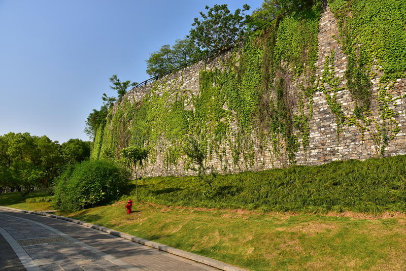 Download Ming Dynasty City Wall In De Lente Stock Afbeelding - Afbeelding bestaande uit klimop, groen: 54085417
