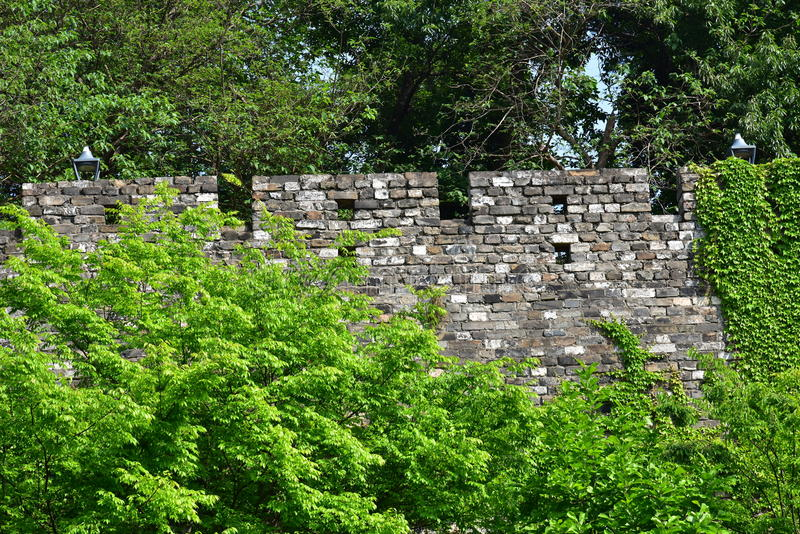 Ming Dynasty City Wall in the spring royalty free stock photography