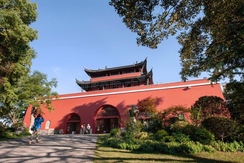 Ming Dynasty Drum Tower, Nanjing, Kina arkivfoton