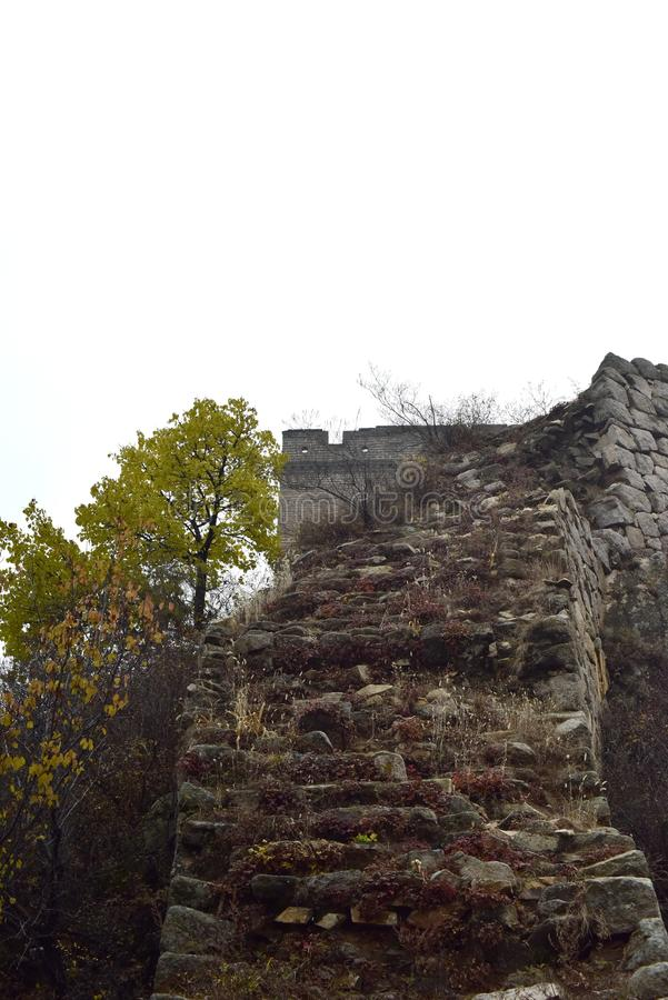 The Ming the Great Wall in Laiyuan royalty free stock photo
