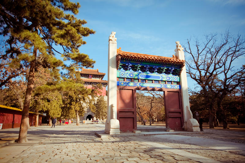 Ming Dynasty Tombs in Beijing, China. Tomb of Ming Dynasty Tombs in Beijing, China - A UNESCO World Heritage Site royalty free stock photography