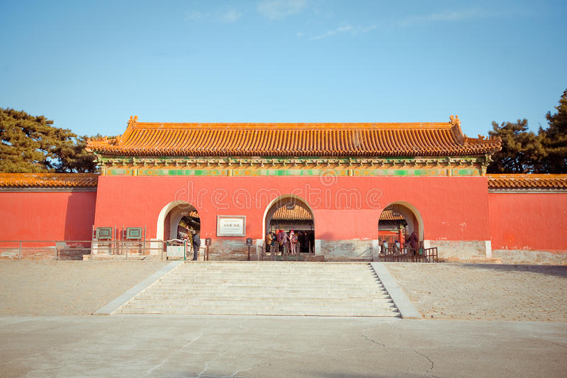 Ming Dynasty Tombs in Peking, China stock afbeelding