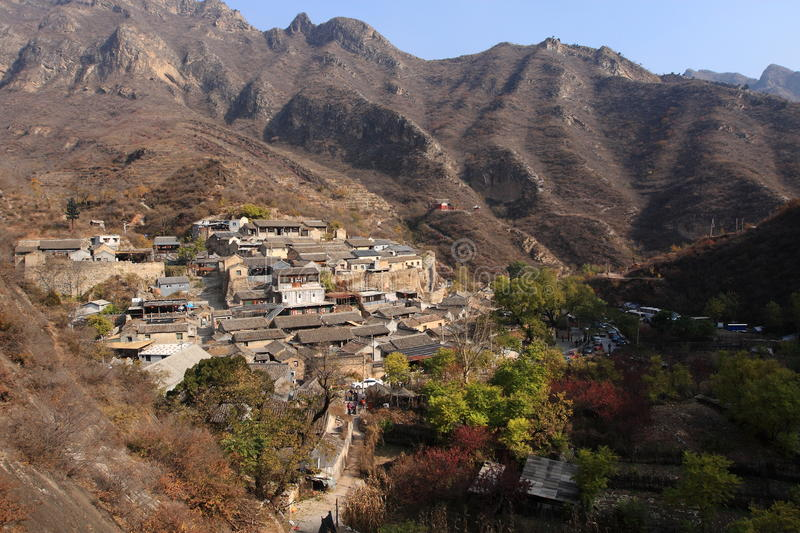 Ming Dynasty village of Cuandixia. Cuandixia village was originally built in the Ming Dynasty with a history of nearly 500 years. The village is 90 km west of stock photo