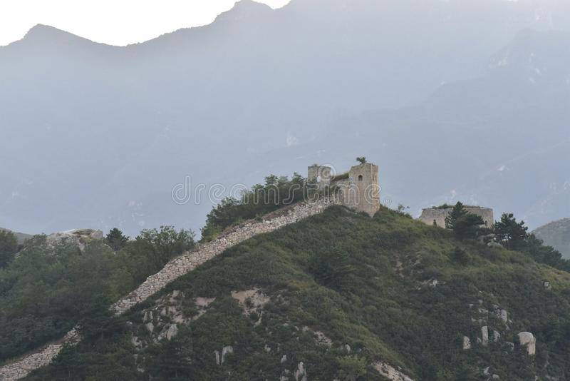 The Ming the Great Wall in Laiyuan stock photo
