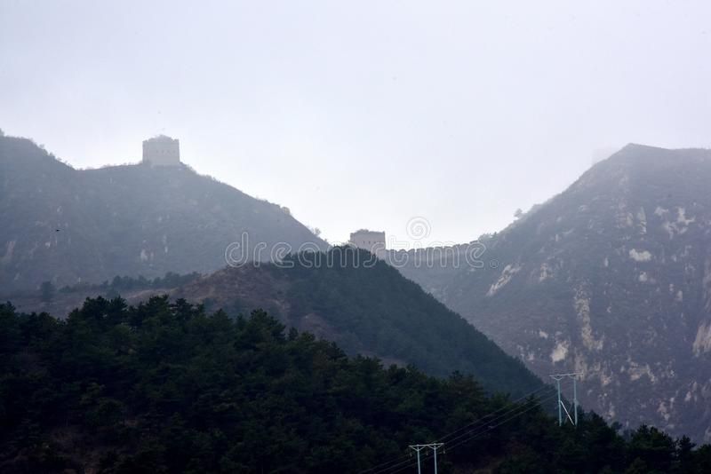 The Ming the Great Wall in Laiyuan stock photography