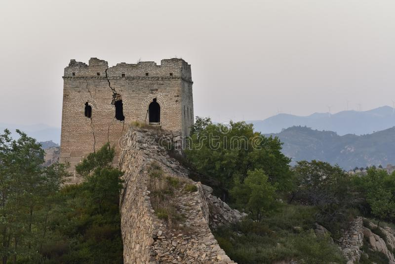 The Ming the Great Wall in Laiyuan stock images