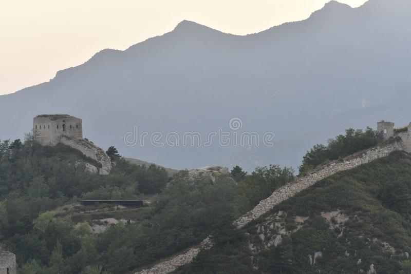 The Ming the Great Wall in Laiyuan royalty free stock photography