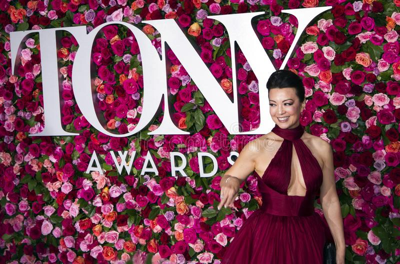 Ming-Na Wen chez Tony Awards 2018 images stock