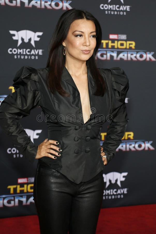 Ming-Na Wen. At the World premiere of `Thor: Ragnarok` held at the El Capitan Theatre in Hollywood, USA on October 10, 2017 royalty free stock image