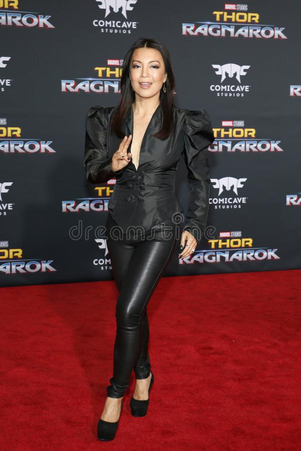 Ming-Na Wen. At the World premiere of `Thor: Ragnarok` held at the El Capitan Theatre in Hollywood, USA on October 10, 2017 royalty free stock images