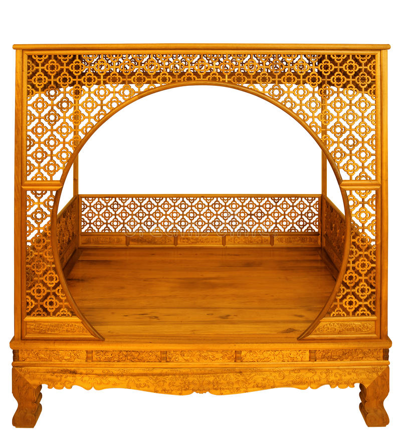 Ming-stijl meubilair van hardhout stock fotografie