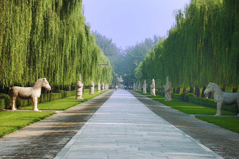 Ming Tombs royaltyfri bild