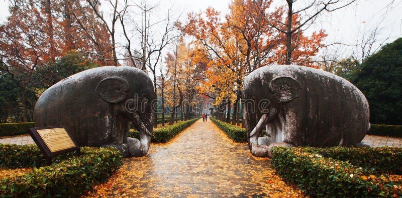 Ming Xiaoling Mausoleum de Nanjing photographie stock libre de droits