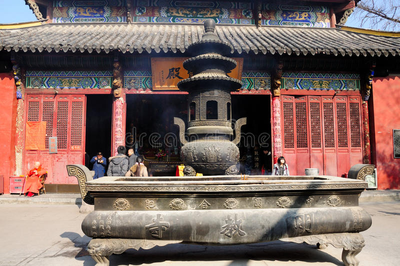 Mingjiao-Tempel Hefei China lizenzfreies stockfoto