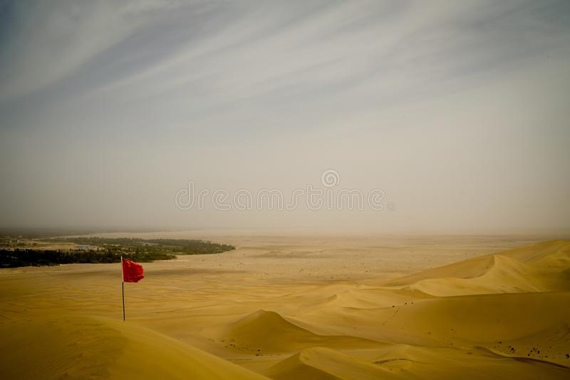 Mingsha Mountain, Dunhuang, China stock photography