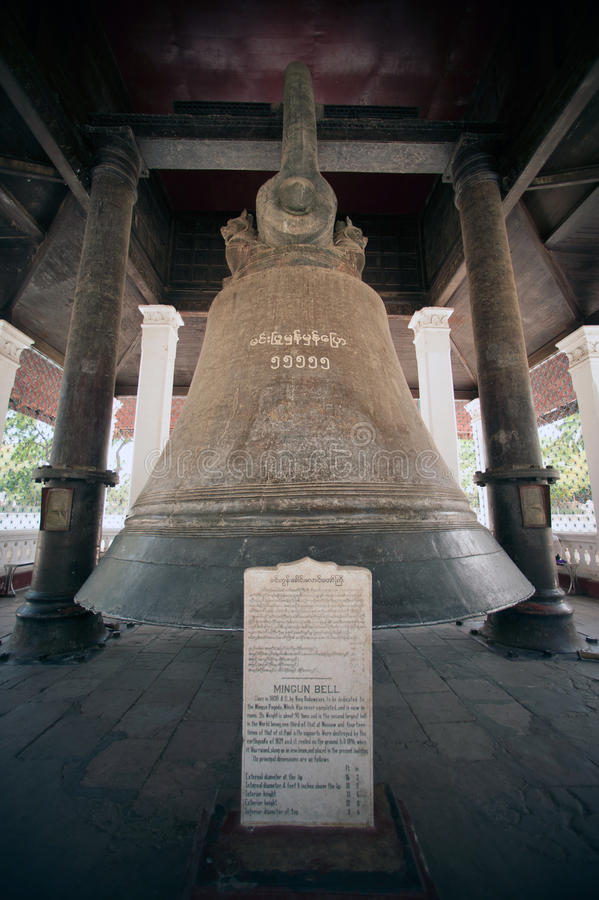 Mingun bell in Myanmar. Mingun Bell is the largest ringing Bell in the World,located at Mingun temple,Sagaint Region in Myanmar royalty free stock images