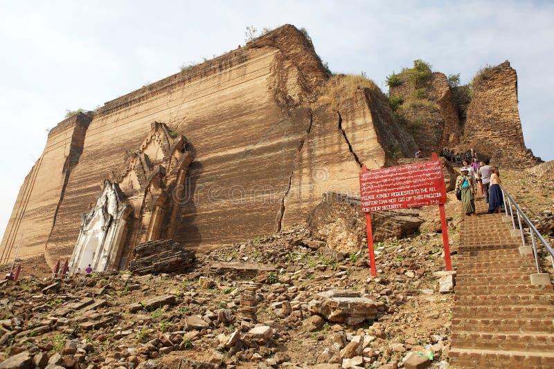 Download Mingun Pahtodawgy Myanmar fotografia editoriale. Immagine di destinazione - 56888226