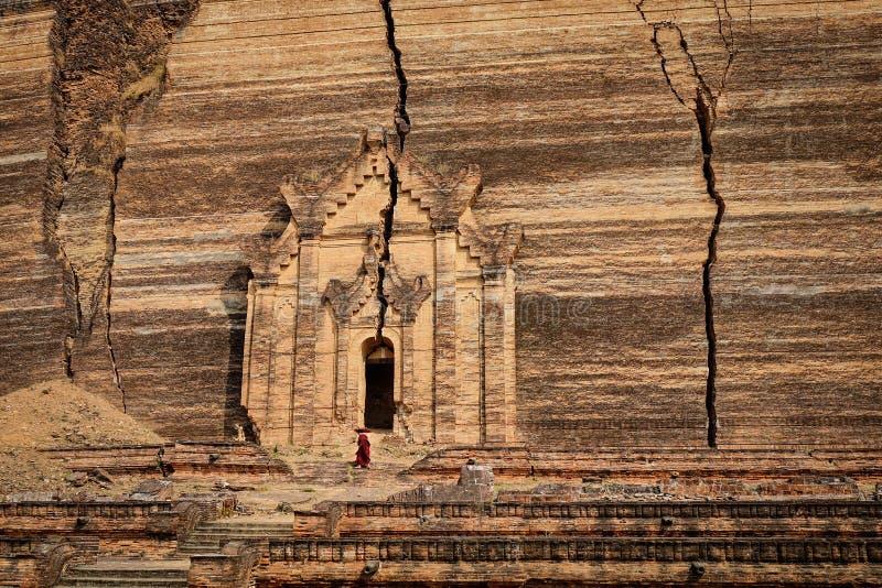 Mingun Pahtodawgyi en Mandalay, Myanmar imagen de archivo