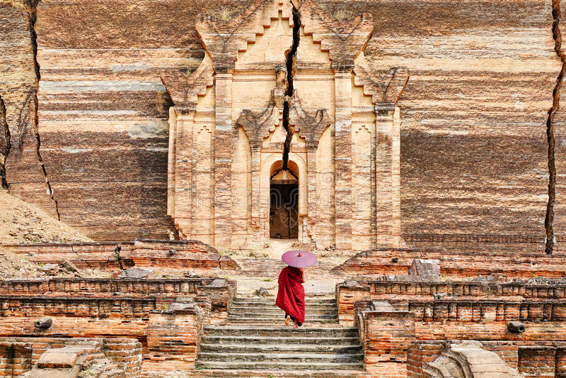 Mingun Pahtodawgyi Temple in Mandalay, Myanmar royalty free stock image