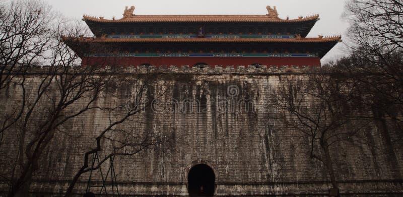 Mingxiao Ling gravvalvet av Zhu Yuanzhang royaltyfria bilder