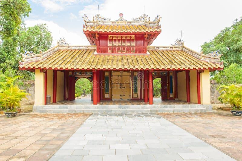 Minh在颜色北京皇城的mang坟墓大门  库存图片