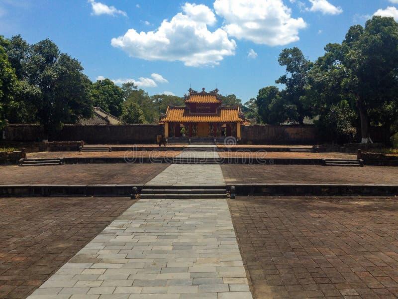Minh Mang Tomb in der Farbe, Vietnam stockfoto