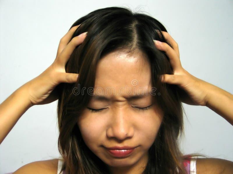 Download Minha cabeça! imagem de stock. Imagem de emoção, headache - 50165