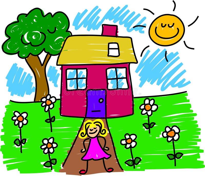 Minha casa ilustração stock