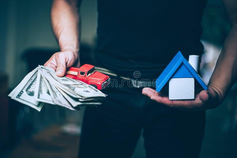 Minha casa e meu dinheiro fotografia de stock