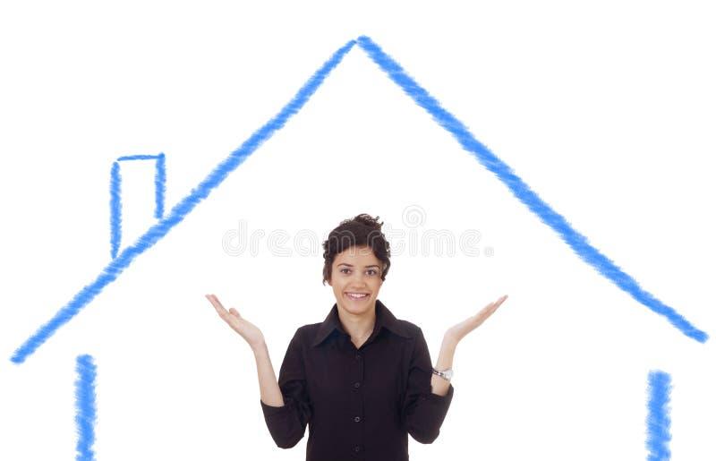 Minha casa ideal! imagens de stock
